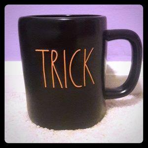 Rae Dunn black TRICK TREAT double sided mug